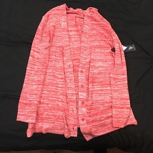 Pink and white U.S. Polo Assn. cardigan